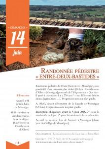 Randonnée pédestre Entre-Deux-Bastides Monségur