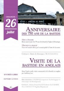 Anniversaire des 750 ans de la Bastide